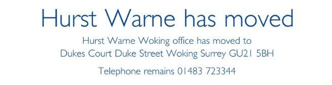 Hurst Warne Woking has moved