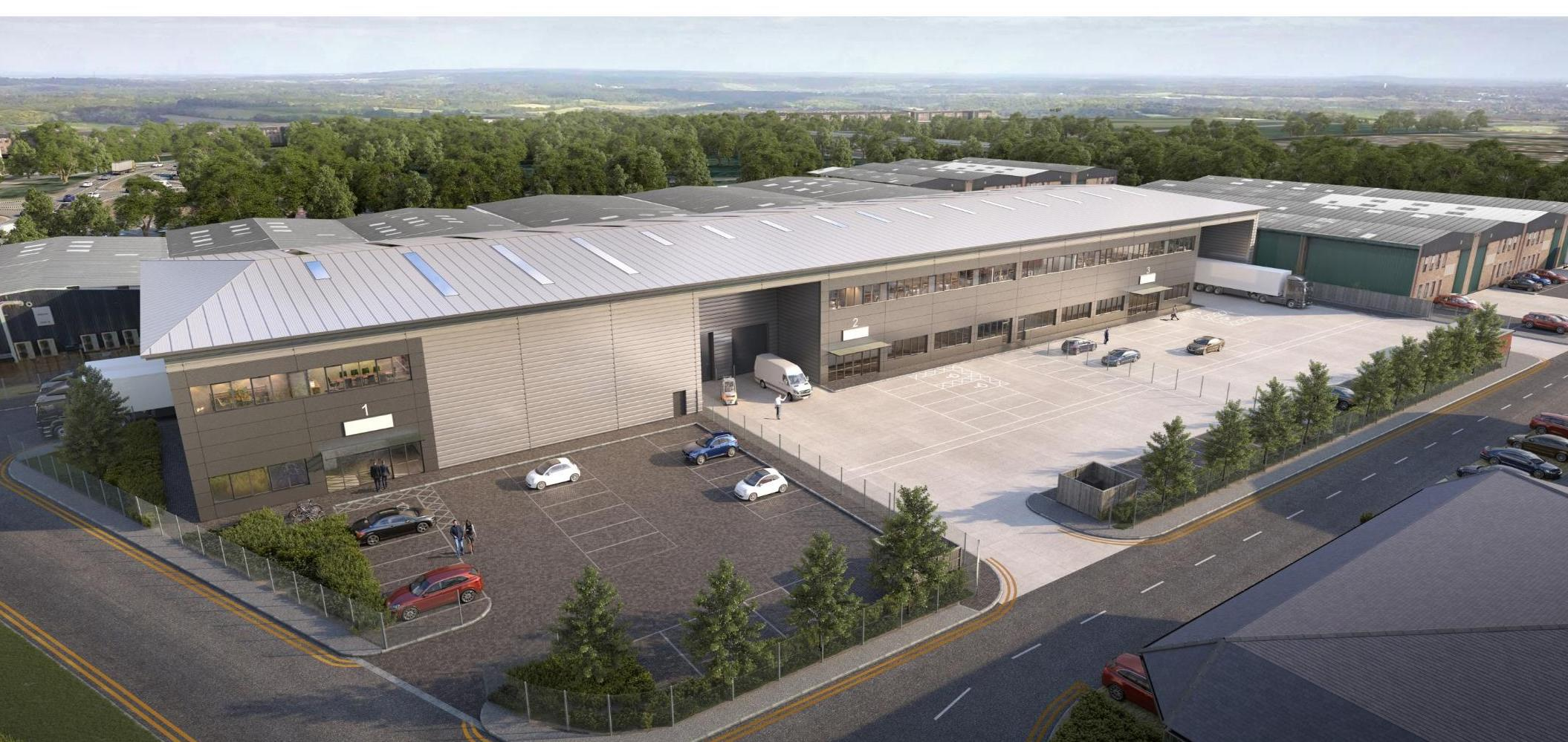 Reaching new heights at Orchard Street's Albany Point industrial distribution hub, Camberley